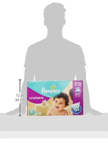 Large Product Image of Pampers Cruisers Disposable Diapers Size 4, 152 Count, ECONOMY PACK PLUS