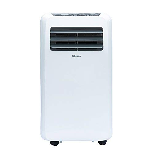 (Shinco SPF2-10C 10,000 BTU Portable Air Conditioner,Dehumidifier Fan Functions,Rooms up to 300-450 sq.ft, Remote Control, LED Display,)