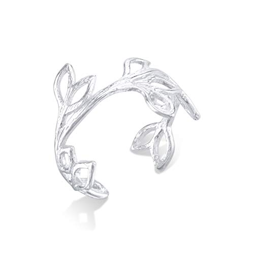 CY Supplies Leaf Branch Ring - 925 Sterling Silver - Adjustable