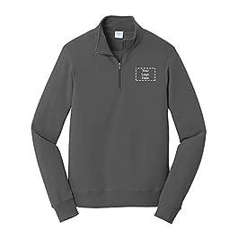 Fan Favorite Fleece 1/4-Zip Pullover Sweatshirt  36 Qty  32.98 Per Customization Product with Your Custom Logo