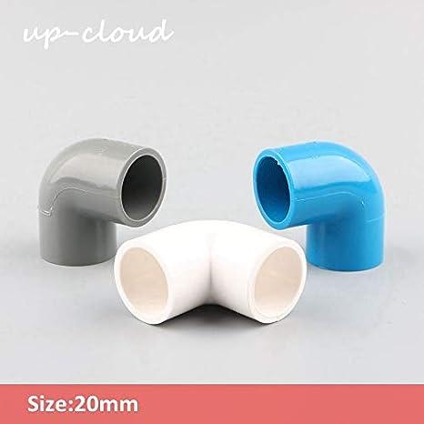 Shoppy Star - 6 Piezas de Tubo de PVC de 20 mm con Codo de 90 Grados, Conector para riego de jardín, pecera, Junta, tubería, Adaptador para Acuario, Partes ...
