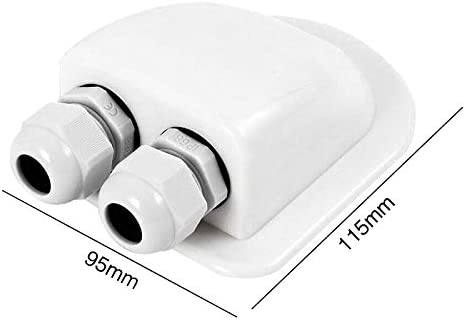 Keepbest Roof Gland Roof Gland 2 Cable Entry for Solar Satellite Aerial Aircon Motorhome Caravan Boat