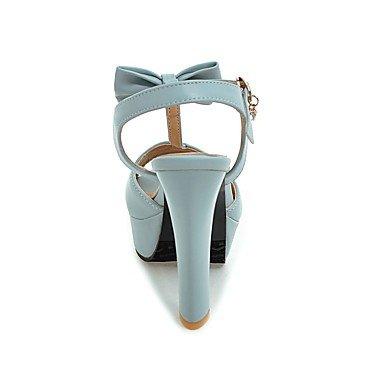 LvYuan Tacón Robusto-Tira en T D'Orsay y Dos Piezas Zapatos del club-Sandalias-Vestido Informal Fiesta y Noche-Semicuero-Negro Azul Rosa Blanco Pink