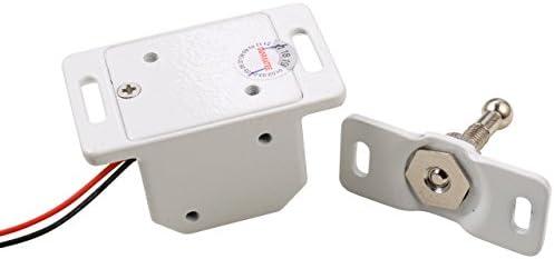 Mini Electric Cabinet Lock DC12V Metal Fail Secure NO Mode File Display Case,