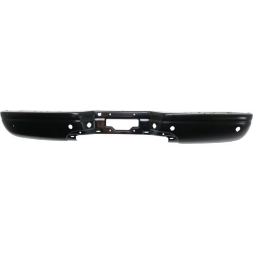 Rear Step Bumper For 2000-2005 Ford Excursion Black Steel with parking aid sensor holes