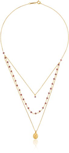 Triple Chain Charm Necklace - 5