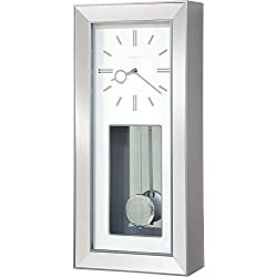 Howard Miller Chaz Wall Clock 625-614 - Satin Silver Quartz & Single Chime Movement