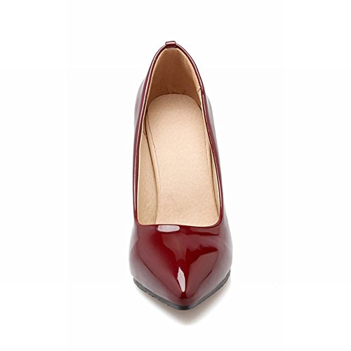 Latasa Womens Sexy Pointed-toe Stiletto High Heel Dress Pumps Shoes claret-red 9nT0FP