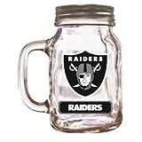 Oakland Raiders Mason Jar 20oz - w/LID