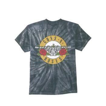 Bravado Men's Guns N' Roses Roses Simple Tie Dye T-Shirt 2XL Grey