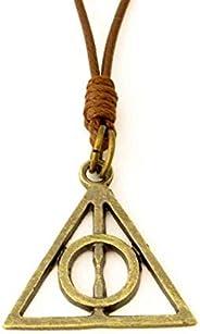 Colar Harry Potter Relíquias da Morte Ouro Velho Ajustável - Frete Grátis