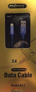 Nufami lightening heavy duty fast charging 5A, Sync data and Charge. 1 meter long for iphone, ipad and ipod (Navy blue)