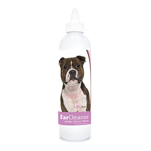 (Healthy Breeds Dog Otic Cleansing Drops for Staffordshire Bull Terrier - Over 200 Breeds - Veterinarian Recommended Formula - Sweet Pea & Vanilla 8 oz)