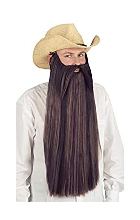 Horror-Shop Ultra larga barba marrón