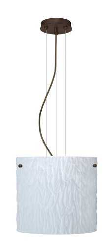 Tamburo Cable Pendant Finish: Satin Nickel, Size / Glass Shade: 120