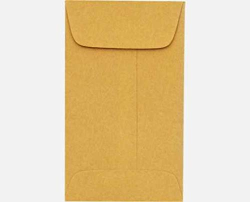 #1 Coin Envelope 24LBS Brown Kraft Bulk of 10000