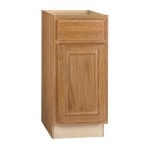 CONTINENTAL CABINETS KITCHEN CABINETS 2478209 Rsi Home Products Hamilton Base Cabinet, Fully Assembled, Raised Panel, Oak, 15X34-1/2X24' 15X34-1/2X24