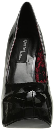 Patent Kissable Heel Polyurethane Black The Pump Highest Women's qY1zt