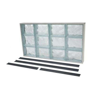 Glass Block (NailUp2 Wave Pattern Solid Glass Block Window)