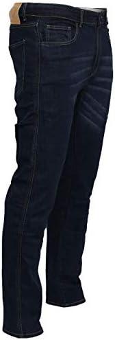 con forro de aramida Great Bikers Gear protector de rodilla y cadera. Pantalones vaqueros de ingenier/ía para hombre forro de protecci/ón reforzado