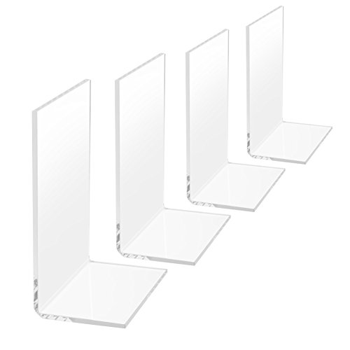 Medical Bookends (4 Pcs Clear Plastic Bookends (white))