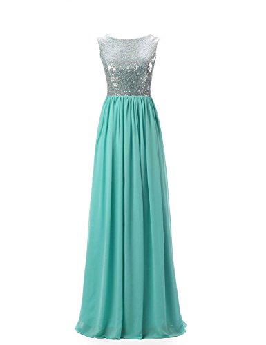 Belle House Women's Long Tank Top Cap Sleeve Formal Evening Party Gowns Siver Bridesmaid Dresses
