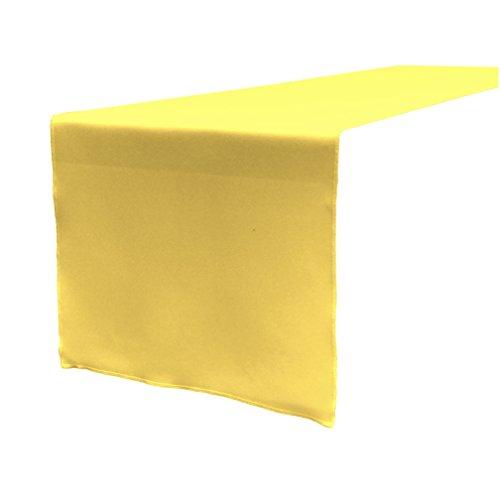 LA Linen Polyester Poplin Table Runner, 14 by 108-Inch, Yellow Light