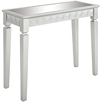 Deco 79 Wood Mirror Console Table, 37 By 32 Inch, Silver
