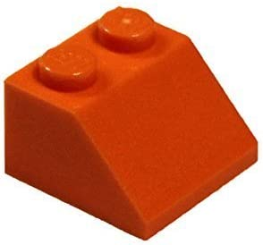 LEGO Parts and Pieces: Orange (Bright Orange) 2x2 45 Slope x50