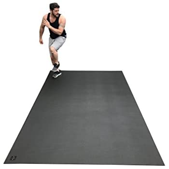 "Large Exercise Mat 10 Ft X 6 Ft (120"" x 72"" x 1/4""). Designed For Cardio Workouts WITH Shoes. Perfect For MMA, Cardio And Plyometric Workouts. Ideal For Home Gyms Or Living Room Workouts. Square36"