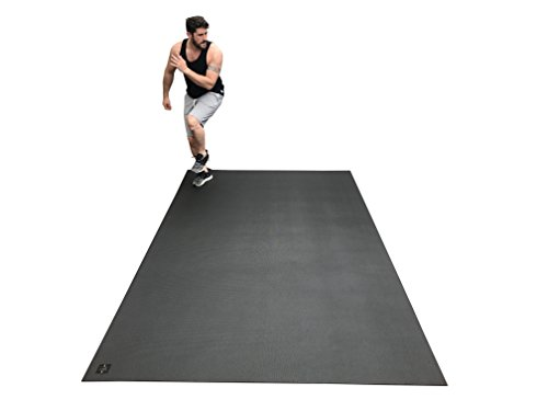 "Square36 Large Exercise Mat 10 Ft X 6 Ft (120"" x 72"" x 1/4""). Designed for Cardio Workouts with Shoes. Perfect for MMA, Cardio and Plyometric Workouts. Ideal for Home Gyms Or Living Room Workouts"