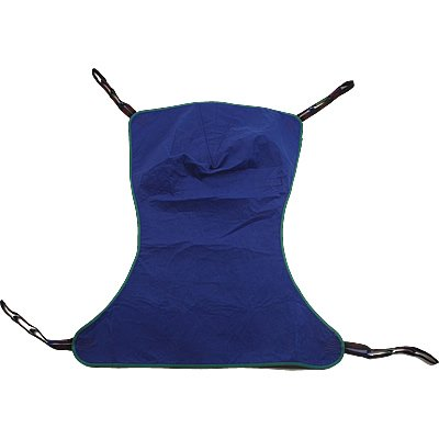 INVR113 - Invacare Corporation Reliant Full Body Solid Fabric Sling without Commode Opening, Large, Green, Polyester/Nylon