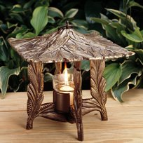 Whitehall Products Pinecone Twilight Lantern, Oil Rub (Pinecone Lantern)