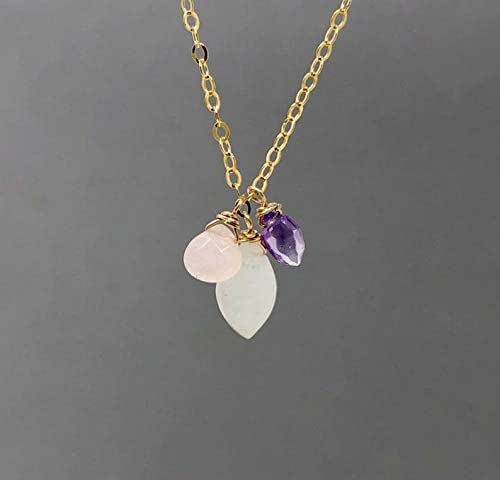 BEST SELLER Moonstone Necklace Women Girls Gold Filled or Sterling Silver Gemstones Rosegold AAAA Quality Minimalist Jewelry Delicate Simple