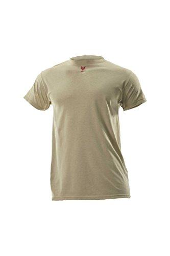 Sleeve T-shirt Short Flame (DRIFIRE Flame Resistant Industrial Lightweight Short Sleeve Shirt Desert Sand, Size: MD)
