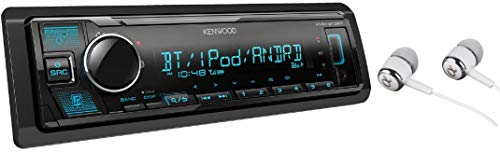 Kenwood KMM-BT325 Bluetooth USB MP3 WMA AM FM Digital Media Player Dual Phone Connection Pandora Car Stereo Receiver Free ALPHASONIK Earbuds