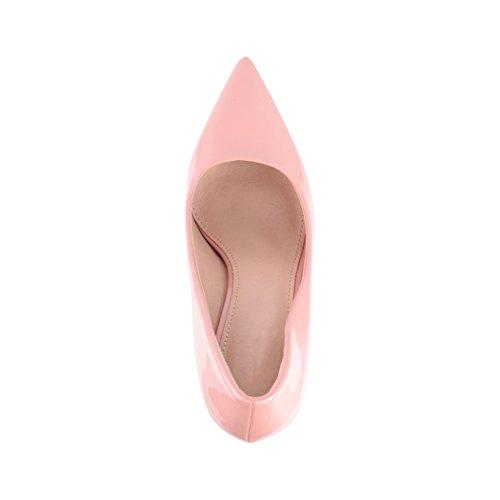 Paris tacco chunkyrayan con tacco con scarpe punta stiletto a comode pump eleganti Elara Rosa con wRHYY6