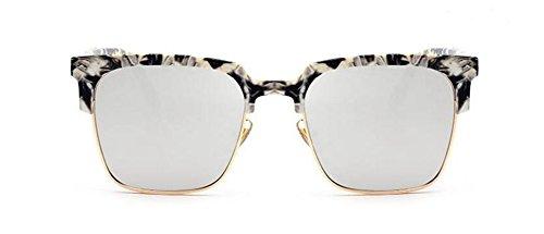 Mercure de style de polarisées en soleil métallique cercle vintage inspirées Lennon rond lunettes du Comprimés retro XZwp6q16