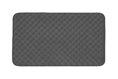 Bounce Comfort Extra Thick Memory Foam Bath Mat - Massage Premium Micro Plush Mat with BounceComfort Technology, 20 x 32 in. Dark Grey (Foam Comfort Mat)
