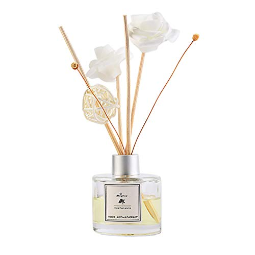 - Thepass Essential Oil Reed Diffuser Ornaments Set,Natural Sticks Glass Bottle Scented Scented Oil,Aromatherapy Gift (Aroma-J:Jasmine)