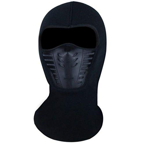 - Thermal Fleece Sports Face Mask for Men Ski Bike Motorcycle Helmet Beanies Masked Cap Black
