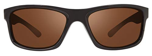 Revo Men's Wrap Polarized Sunglasses Harness Wraparound 61 mm, Matte Black Frame, Golf