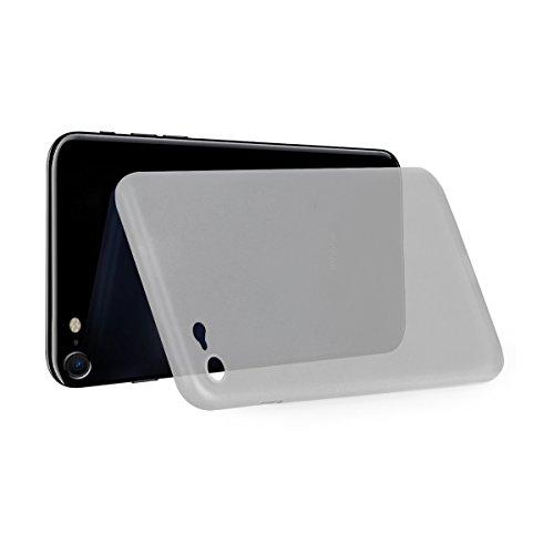 iPhone 8 / iPhone 7 Hülle Ultra Dünn Polycarbonat Case edle Schutzhülle mit Kamera-Schutz Backcover Bumper Weiß / Transparent von wortek