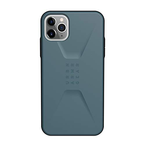 URBAN ARMOR GEAR UAG Designed for iPhone 11 Pro Max [6.5-inch Screen] Civilian Feather-Light Rugged [Slate] Military Drop Tested iPhone Case