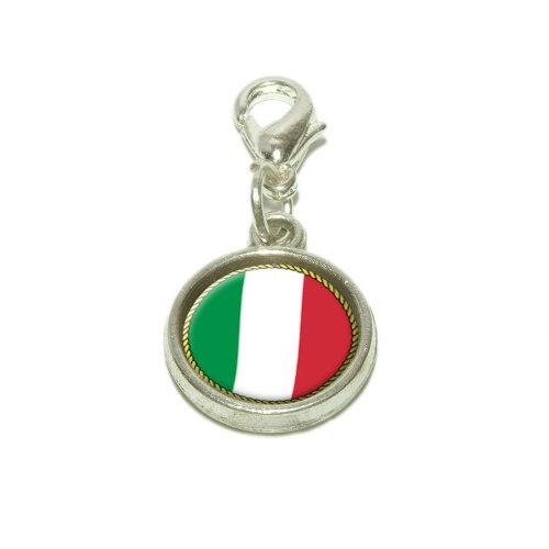 Flag of Italy Dangling Bracelet Pendant Charm