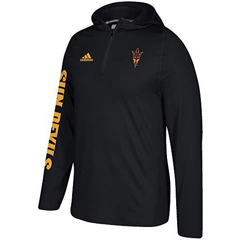 adidas Arizona State Sun Devils NCAA Men's Black Sideline 1/4 Zip Training Hoodie