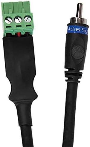 6.6インチ。 2メートルオスRCAからフェニックスコネクターケーブル、ブラック。