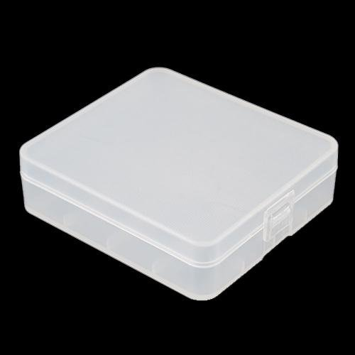 Plastic Transparent Battery Holder Storage