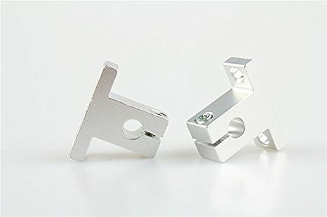 2 x (SK12 12 mm) soporte de guía de eje lineal para XYZ; mesa CNC ...