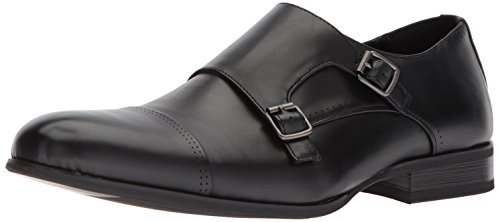 Unlisted by Kenneth Cole Men's EEL Monk-Strap Loafer, Black, 8 M US ()